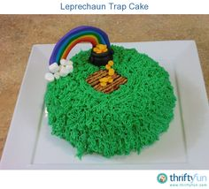 Many kids have an opportunity to make a leprechaun trap at school when they are young. After seeing one that my kids brought home, I thought it might be fun to try and make a leprechaun trap cake.