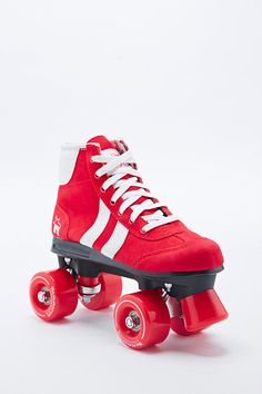 Retro Rollerskates in Red and White