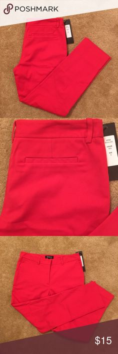 WILLING TO TRADE - Brand New Red Pants Brand New w/Tags -Gorgeous Red Pants - Perfect for work or going out - Approx. Measurements in Inches:  32 (Length), 14.5 (Waist), 6.5 (Bottom) - My entire closet is up for trade/negotiation. If you would like to exchange any item(s) with me, please feel free to send me a message. Thank you in advance 😘 (Local Pick-Up is available in Washington, D.C./Northern VA) Francis Pants Ankle & Cropped
