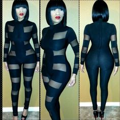 2014 New Winter Jumpsuit Sexy Fashion Women Club Wears White/Black Patchwork Drop Ship Special Occasion Bodycon Skinny Rompers $14.99