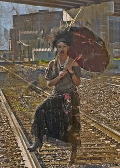 Marie Laveau Voodoo Queen Waiting on the Train by chimeramindstudio.deviantart.com