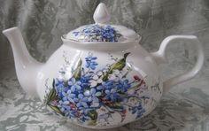 Blue Mist Bone China Teapot | English Teapots