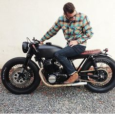 Does This Bike Make My Butt Look Big? http://goodhal.blogspot.com/2013/04/man-and-machine-025.html #CafeRacer #Honda #ManAndMachine