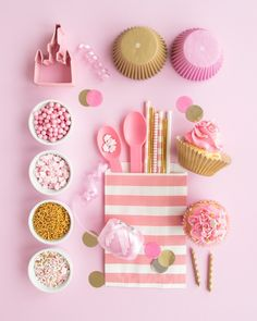 Throw a party fit for royalty with these pink and gold party ideas and party supplies roundup! Our pink and gold princess party ideas would be PERFECT for a first birthday, baby shower, or sweet sixteen party too! From our light pink jimmies, to our gold sugar pearls, and pink crown sprinkles and other party supplies, you are in a for royal treat. #princepartyideas #pinkandgoldparty #pinkandgoldbabyshower #pinkandgoldbirthday #pinkandgoldpartysupplies #princesssprinkles #goldpartysupplies