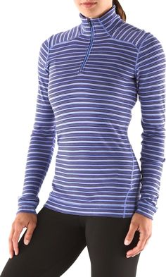 The SmartWool Midweight Pattern Zip-T shirt is designed for the fashion-savvy adventurer.