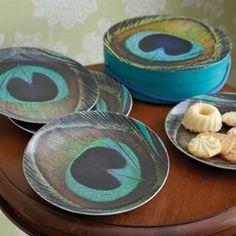Peacock plates!!!!!!!  busybeelifestyle.com