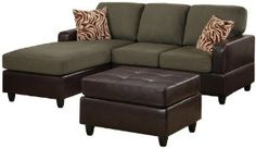 online shopping for BOBKONA Manhattan Reversible Microfiber Sectional Sofa Faux Leather Ottoman Sage Color from top store. See new offer for BOBKONA Manhattan Reversible Microfiber Sectional Sofa Faux Leather Ottoman Sage Color Cheap Couch, Cheap Sofas, 3 Piece Sectional Sofa, Sofa Set, Couch Sofa, Sleeper Couch, Velvet Couch, Lounge Sofa, Sofa Throw