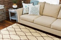 Gorgeous Rugs Model for Any Kinds of Room: Wonderful Area Rug Eclectic Living Room Beige Sofa