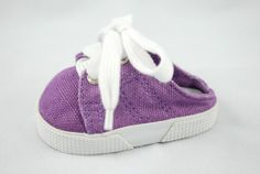 Backless Lavender Canvas Mules for American by UniqueDollClothing, $6.50