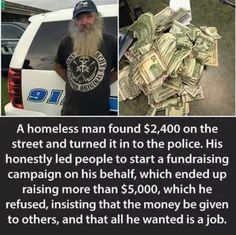 Faith In Humanity Restored - 23 Pics man I'd take that cash and run Sweet Stories, Cute Stories, Happy Stories, News Stories, We Are The World, In This World, Human Kindness, Kindness Matters, Touching Stories