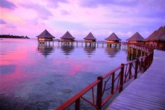 Overwater Bungalows at the Hotel Kia Ora, Rangiroa, French Polynesia  photo credit Idee Per Viaggiare, via Flickr
