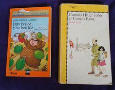 Vintage Libros 'Fray Perico y su borrico' y 'Cuando Hitler robo el conejo rosa' | Flickr - Photo Sharing!