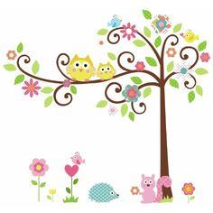 RoomMates RMK1439SLM - Pegatinas para pared con diseño de árbol y animales #hogar #decorar #infantil