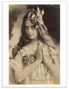 Actress Cleo de Merode Vintage Postcard Image Photo Greeting Card or Print CM019 | eBay