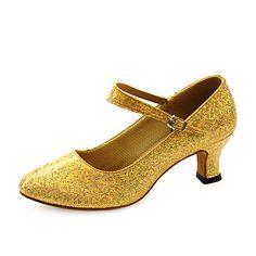 Women's Sparkling Glitter Upper Ankle Strap Modern / Ballroom Dance Shoes (More Colors) – USD $ 19.99