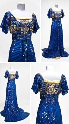 1909 evening gown by Callot Soeurs. Via Gregg Museum, North Carolina State Univ.