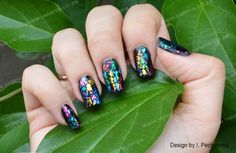Simple but stunning set we did with our Rainbow foils.