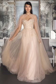 See our favorite colored wedding dresses from the best bridal designers—from red wedding dresses to pink wedding dresses to black wedding dresses! Romona Keveza Wedding Dresses, Classic Wedding Dress, Wedding Dress Trends, Gorgeous Wedding Dress, Colored Wedding Dresses, Wedding Dress Styles, Beautiful Gowns, Bridal Dresses, 2017 Wedding