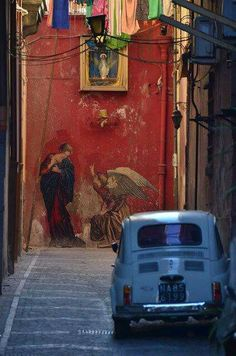italiacaramia: anastasia-ovcharova: Napoli, Italia Naples, I love you Dead end Rome, Street Art, Street Mural, Historical Sites, Graffiti Art, Urban Art, Italy Travel, Italy Tourism, Wonders Of The World