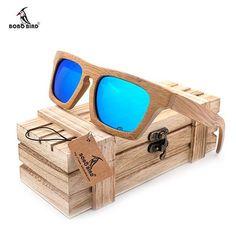 1c5f41d5b44 BOBO BIRD Polarized Sunglasses Colorful Coating in Original Wood Box  Polarized Sunglasses