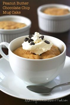 Low Carb Peanut Butt  Low Carb Peanut Butter Mug Cake. Grain-free and sugar-free. LCHF Keto THM Banting Recipe via All Day I Dream About Food