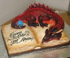 Funny pictures about An awesomely geeky cake. Oh, and cool pics about An awesomely geeky cake. Also, An awesomely geeky cake. Crazy Cakes, Fancy Cakes, Dragon Birthday Cakes, Dragon Cakes, Beautiful Cakes, Amazing Cakes, Fantasy Cake, Dragon Party, Love Cake