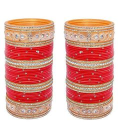 2.4 S Bollywood Bangles Bracelet Indian Punjabi Bridal Jewellery Chura Red D8 Year-End Bargain Sale Bridal & Wedding Party Jewelry Engagement & Wedding