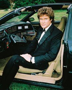 KNIGHT RIDER - David Hasselhoff seated in KITT