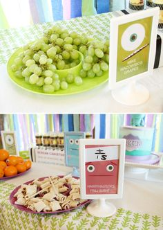 Monsters Inc. Themed Birthday Party - cute ideas and uses of picmonkey