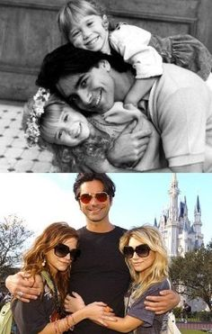 marykate & ashley olsen & john stamos, aka michelle tanner and jesse katsopolis