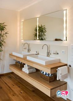 Cool Modern Bathroom Vanity Designs And The Accessories Part 33 Wooden Bathroom Vanity, Bathroom Vanity Designs, Small Bathroom Vanities, Bathroom Shelves, Modern Bathroom, Bathroom Ideas, Bathroom Cabinets, Bathroom Pink, Bathroom Organization