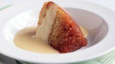 Eves Pudding with Sauce Anglaise (Fresh Egg Custard) - RTE Food