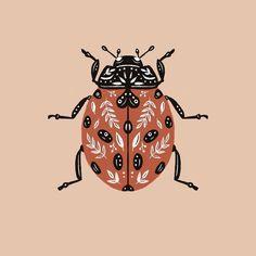Posca Art, Insect Art, Grafik Design, Digital Illustration, Painted Rocks, Art Inspo, Art Reference, Folk Art, Art Projects
