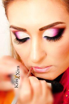 Maquiagem Esfumada KRIS XIVA - Demonstrada em curso do LE GRAIN