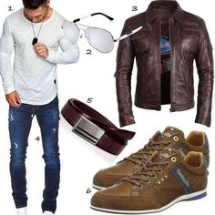 Neue Outfits, Online Shops, Leather Jacket, Jackets, Style, Fashion, One Color, Man Outfit, Dope Outfits
