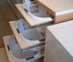 Wash basket drawers