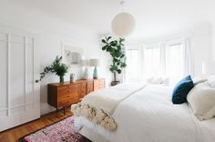 Midcentury Bedroom by Heidi Caillier Design