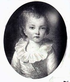 """Louis Joseph de France;   (10/22/1781 - 6/4/1789) was the second child and first son of King Louis XVI of France and Marie Antoinette. As the heir apparent to the French throne, he was called the twenty-sixth Dauphin of France-the hereditary """"crown prince"""" title of the Capetian and Bourbon Monarchies as well as of medieval and early-modern France. Louis Joseph died at age seven of a quick illness amidst the political turmoil and power machinations surrounding the Estates-General of 1789."""