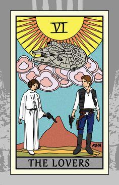 The Lovers - Tarot Card Art Print- HOLY FUCK!