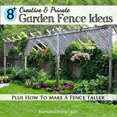 8 Creative & Private Garden Fence Ideas     http://diyhomesweethome.com/8-creative-private-garden-fence-ideas/