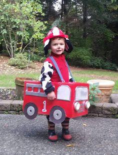 DIY PAW PATROL COSTUME. Halloween, firetruck, Marshall from Paw Patrols,  Paw Patrol party.