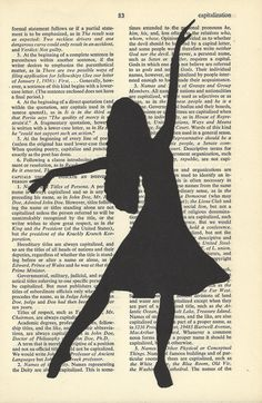 Fashion Silhouette Dancer Drawing on Vintage Paper by AronaDesigns, - Paperworks Fashion Silhouette, Dancer Drawing, Sillouette Art, Drawings, Camera Clip Art, Silhouette Painting, Newspaper Art, Silhouette, Fashion Drawing