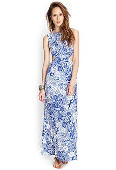 Tropical Floral Maxi Dress | FOREVER21 - 2000071191