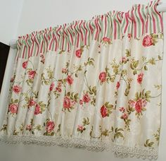 This cotton window topper features a multi colored floral print on a natural off-white background. The Fresh Country Window Curtain is a classic look for your window treatments.   Which is suitable for Home, Office, restaurant , Dinning Area , Windows , Kitchen , Toilet , Bathroom , Bedroom , compound area and etc.