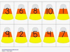 FREE candy corn counting mat!