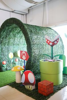 Migo's Super Mario Themed Party – Entrance Best Picture For Olympics Theme Party games For Your Tast Super Mario Party, Super Mario Birthday, Mario Birthday Party, Baby Boy Birthday, 5th Birthday, Super Mario Room, Super Mario Games, Birthday Wishes, Birthday Ideas