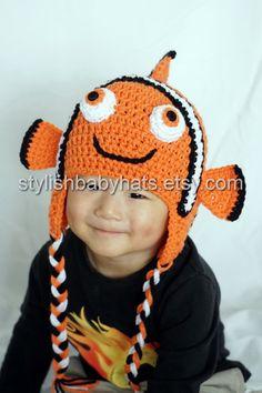 Encontrar Nemo sombrero sombrero del bebé del ganchillo