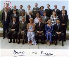 Diana and Charles with their travel entourage.