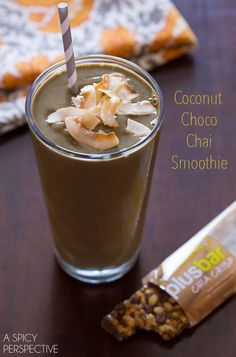 Coconut Chocolate Chai Smoothie