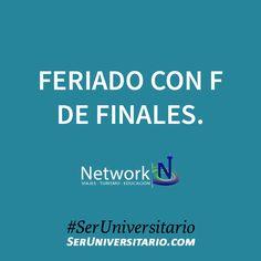 Feriado con F de Finales. #SerUniversitario  Viajar y estudiar en el exterior sin morir en el intento ►► http://seruniversitario.com/viajar-y-estudiar-en-el-exterior-sin-morir-en-el-intento/ por Network